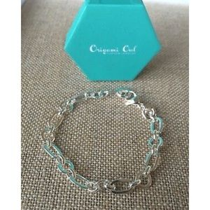 "Origami Owl Silver 8"" Charm / Dangle Bracelet"